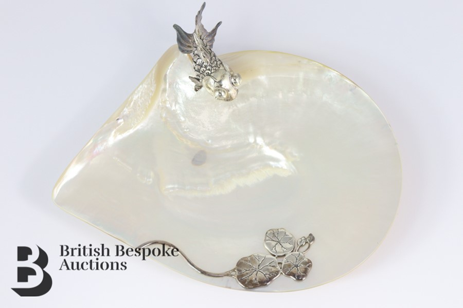 Elegant Mother of Pearl Shell Dish