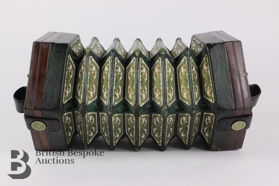19th Century Louis Lachenal Rosewood Concertina - Image 5 of 7