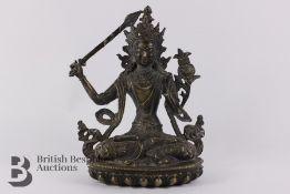 Indian Bodhisattva Figurine