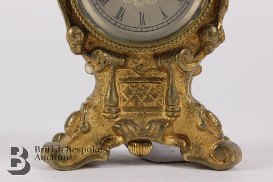 Russian Miniature Clock - Image 4 of 7