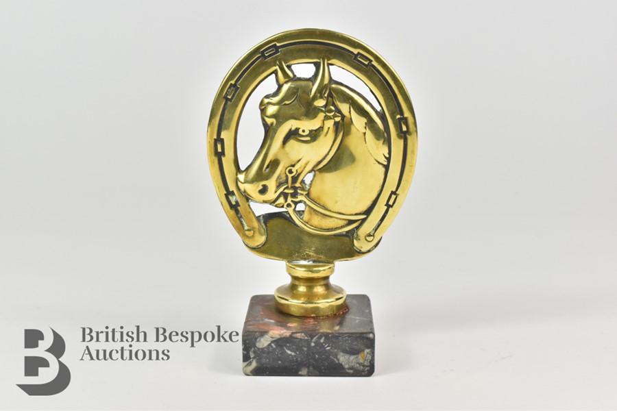 Unusual Brass Equestrian Mascot