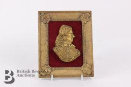 Framed Bust of Oliver Cromwell
