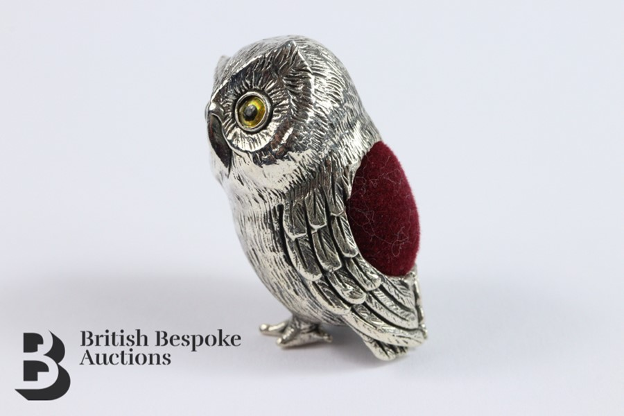 Silver Owl Pin Cushion - Image 2 of 4
