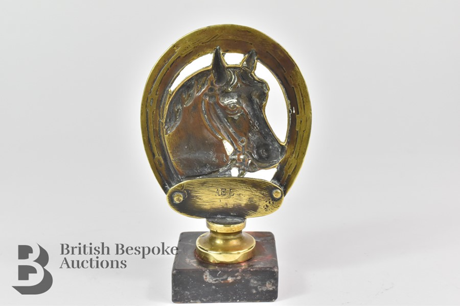 Unusual Brass Equestrian Mascot - Image 3 of 4