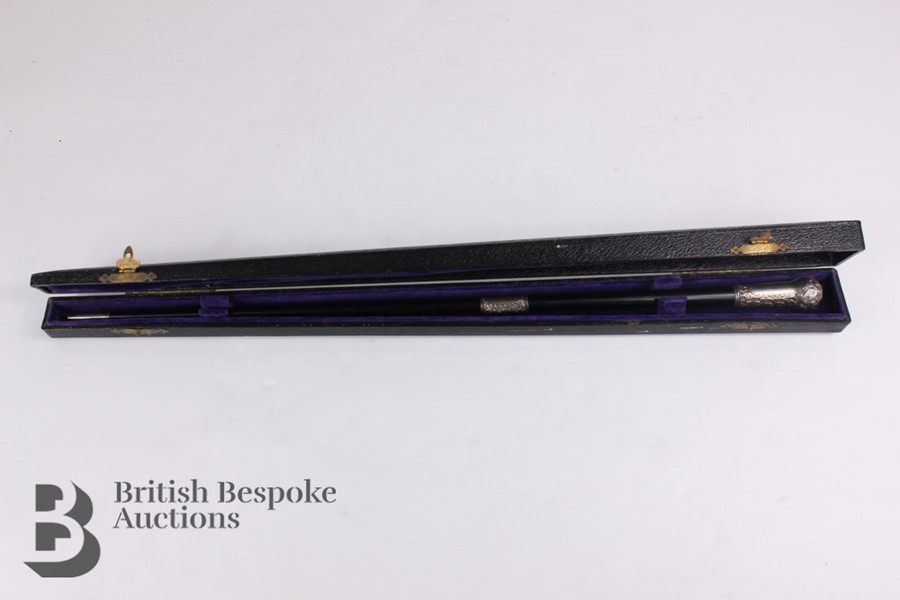 Victorian Ebony and Silver Mounted Conductor's Baton - Image 6 of 12
