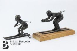 Down Hill Ski Sculptures