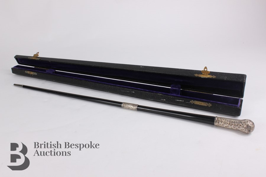 Victorian Ebony and Silver Mounted Conductor's Baton - Image 7 of 12