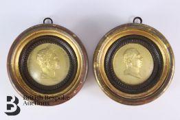 Two Framed Medallions