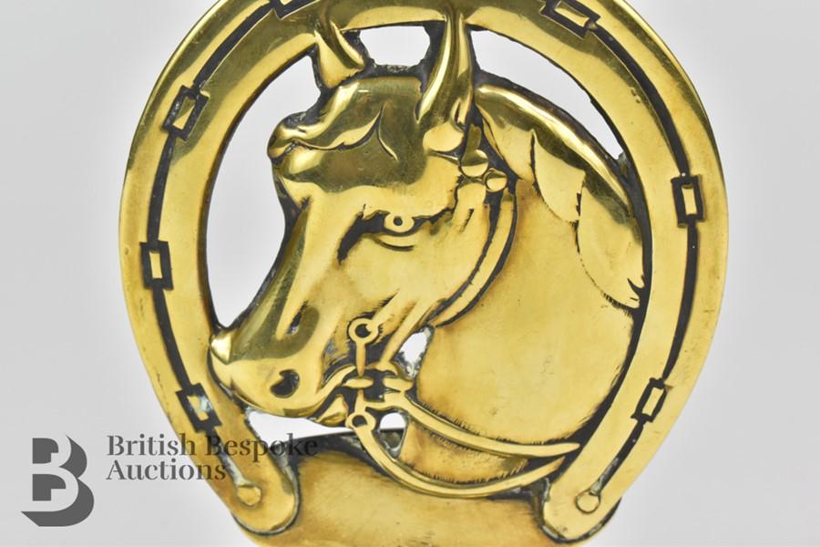 Unusual Brass Equestrian Mascot - Image 2 of 4