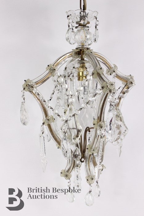 Pair of 20th Century Lantern Chandeliers - Image 5 of 5