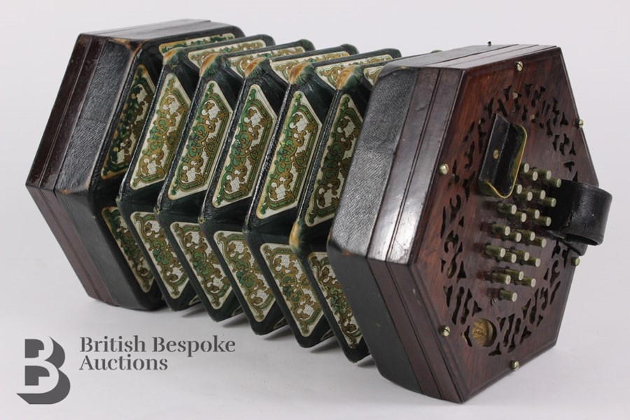 19th Century Louis Lachenal Rosewood Concertina