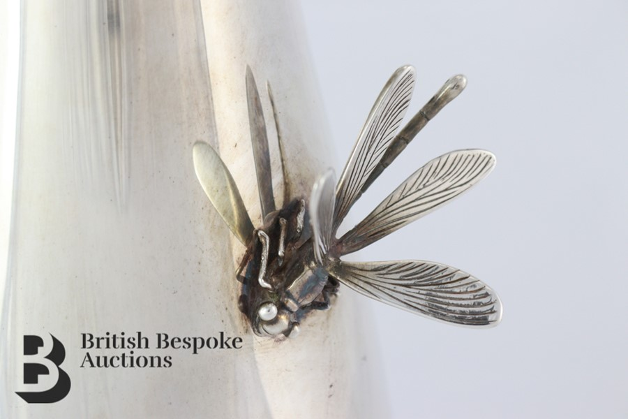 Thistle & Bee Silver Fluted Vase - Image 3 of 6