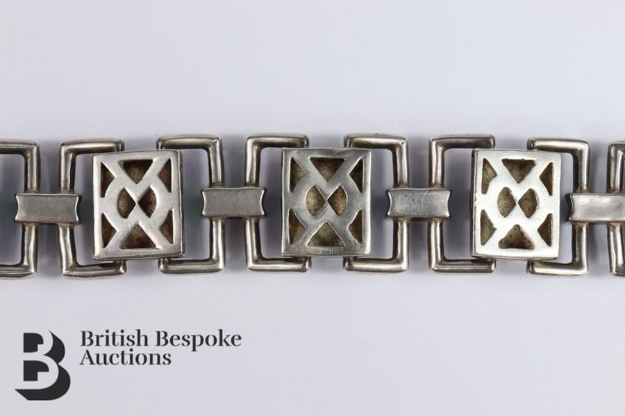 Silver and Guilloche Enamel Link Bracelet - Image 6 of 6