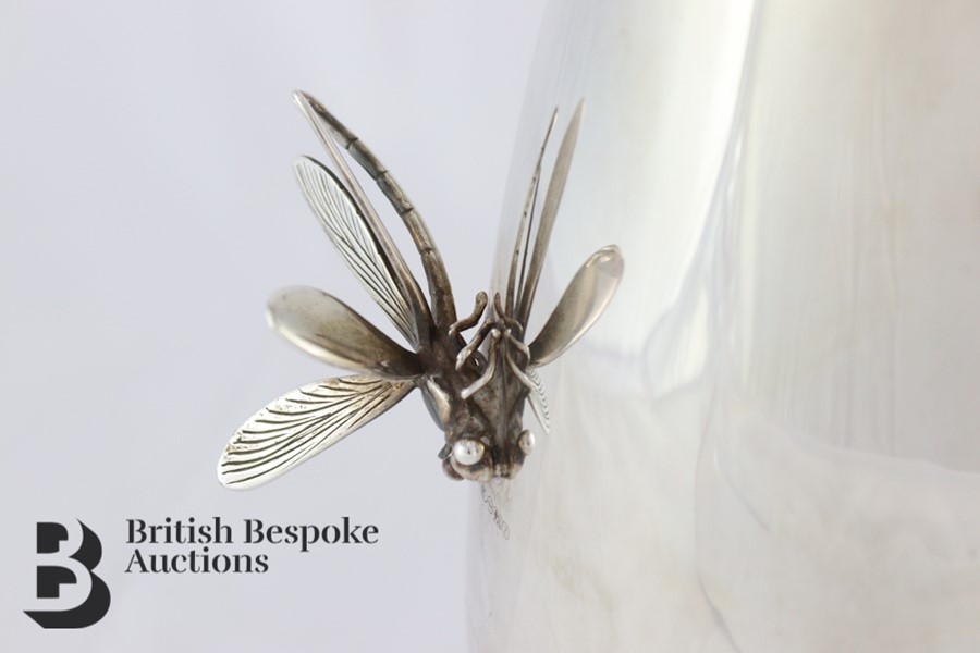Thistle & Bee Silver Fluted Vase - Image 4 of 6