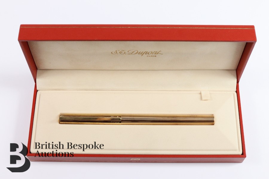 S T Dupont 18ct Gold Ink Pen