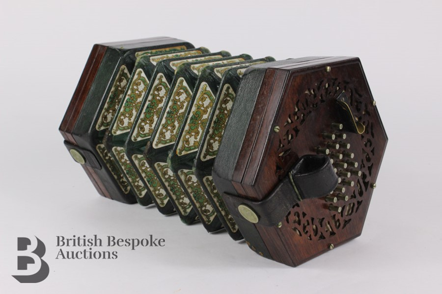 19th Century Louis Lachenal Rosewood Concertina - Image 3 of 7