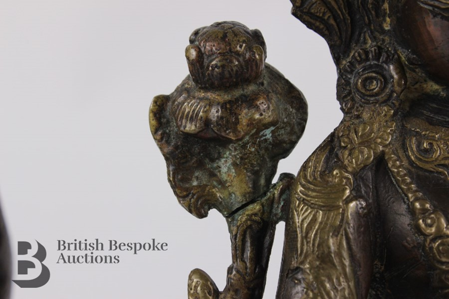 Three South Asian Bronzed Figurines - Image 10 of 10