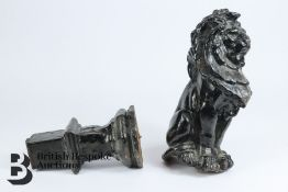 Cast Iron Lion from Railing - Architectural Interest