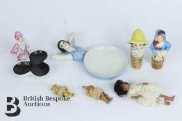 Three Miniature 19th Century Porcelain Dolls