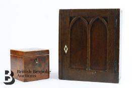 Miniature Cupboard and Tea Caddy