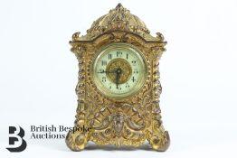 Ornate Edwardian Miniature Mantel Clock