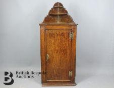 George II Oak Dwarf Corner Cupboard