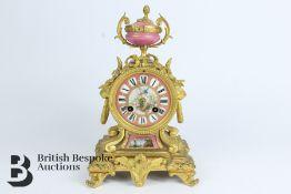French Japy Freres Ormolu Mantel Clock