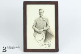 Signed Photograph of Edward VIII