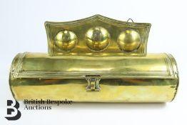 George II Brass Cylindrical Candle Box