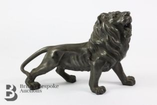 Bronze Prowling Lion