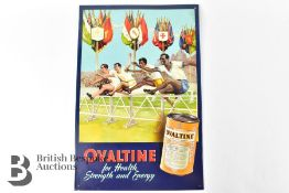 Metal Box Company Ovaltine Advertising Sign