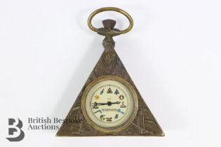 Self-Wind Brass-Cased Pocket Watch