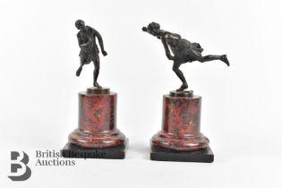 Ferdinand Barbedienne (1810-1892) Patinated Bronzes