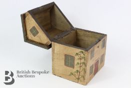 Folk Art Wooden Tea Caddy