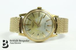 9ct Gold Longines Automatic Gents Wrist Watch
