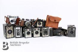 Quantity of Vintage Kodak Box Cameras