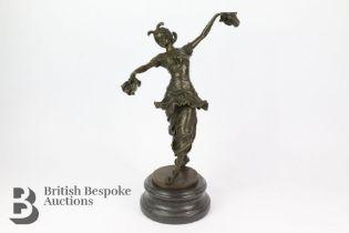 A Bronze Figure Of A Dancer