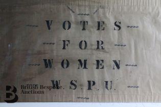 Original Suffragette protest flag