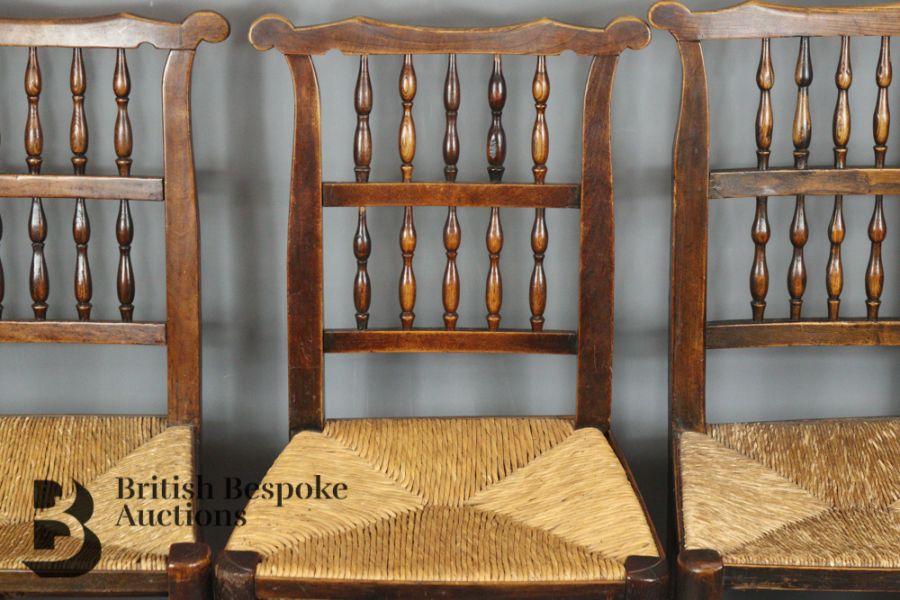 18th Century Lancashire Spindle Back Dining Chairs - Image 4 of 5