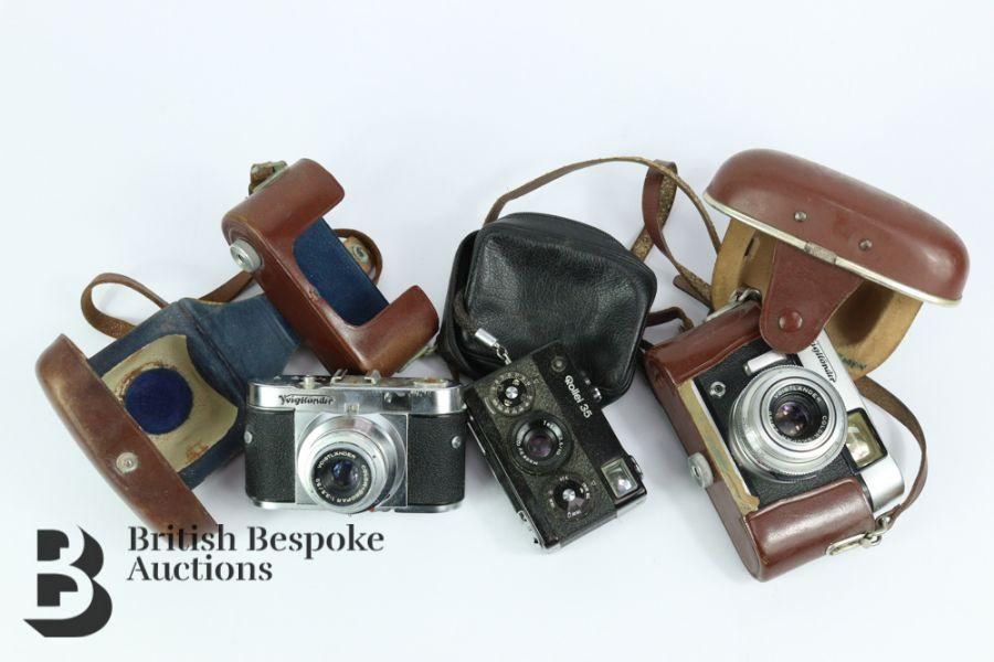 Rollei 35 Compact Film Camera and Voigtlander Camera