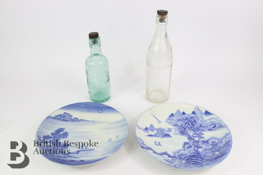 Two 20th Century Japanese Blue and White Plates