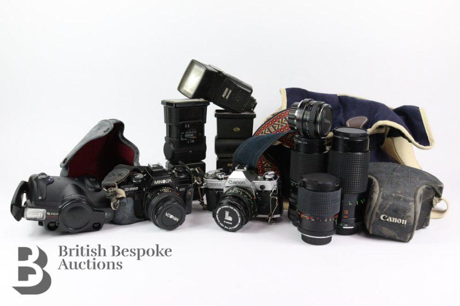 Four Cameras and Camera Equipment