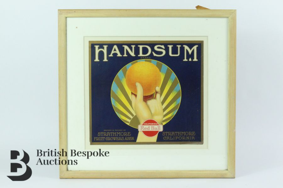 Nine Framed Vintage Fruit Crate Labels - Image 4 of 7