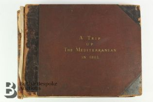 A Trip Up the Mediterranean in 1881 w/ 75 Photographic Prints