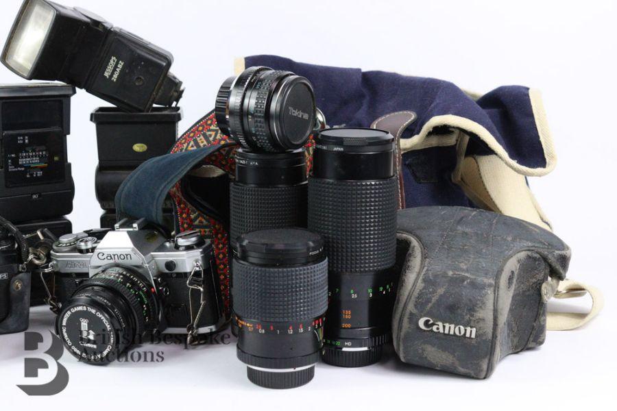 Four Cameras and Camera Equipment - Image 3 of 3
