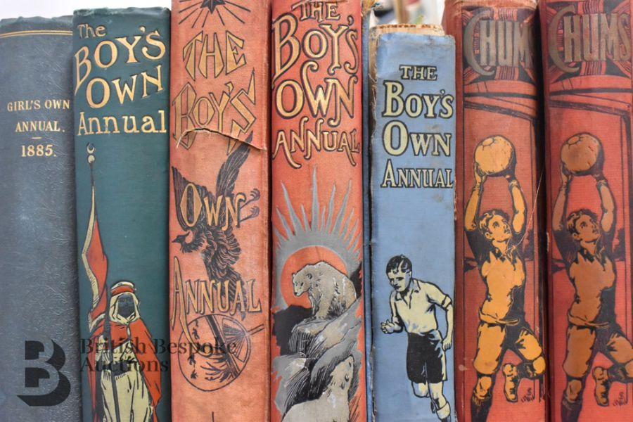 7 Boy's Own Annuals and Girl's Own Annual and Chums