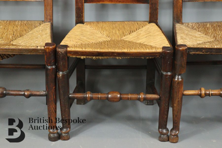18th Century Lancashire Spindle Back Dining Chairs - Image 5 of 5