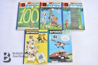 5 Bound Volumes Spirou Comic Magazines 1960s
