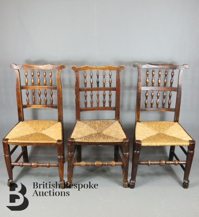 18th Century Lancashire Spindle Back Dining Chairs