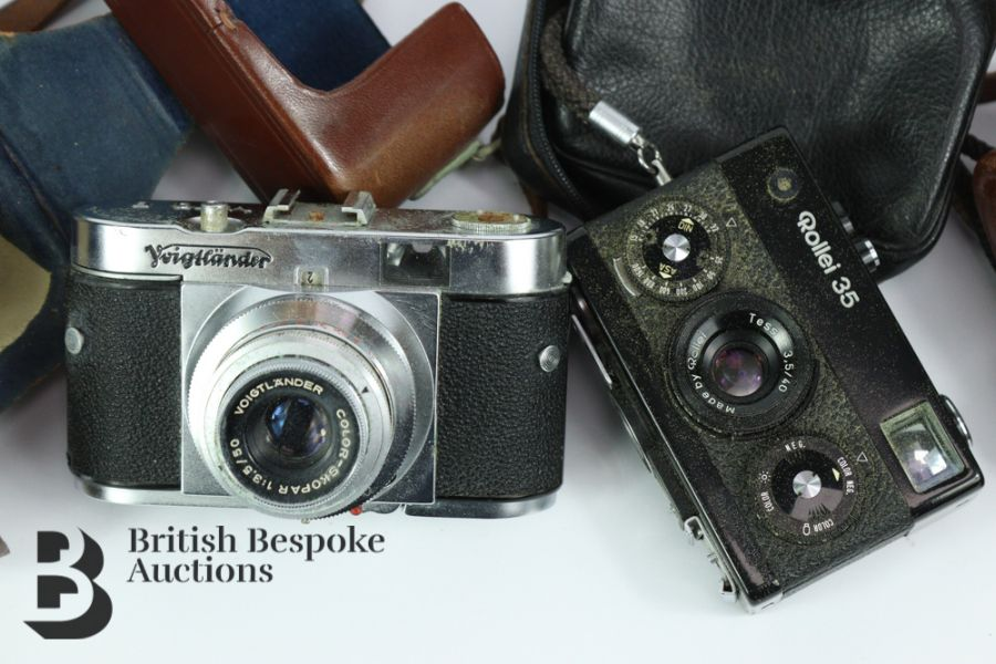 Rollei 35 Compact Film Camera and Voigtlander Camera - Image 2 of 3